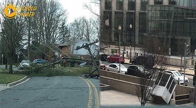 Washington'da Şiddetli Rüzgar
