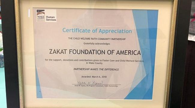 ABD Zekat Vakfına Ödül