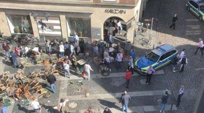 Almanya'da korkunç saldırı! Aracıyla insanların arasına daldı ve...