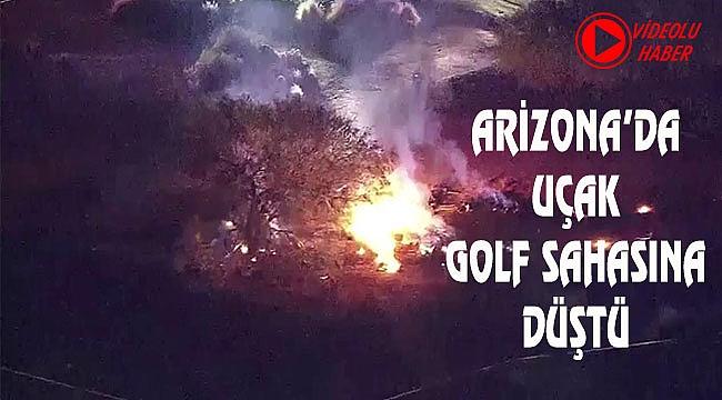 Arizona'da Uçak Golf Sahasına Düştü