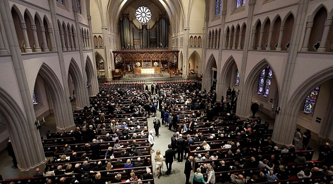 Barbara Bush remembered at funeral as 'the first lady of the greatest generation'