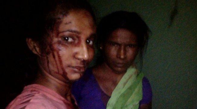 Hint kadın sopayla kaplan kovaladı