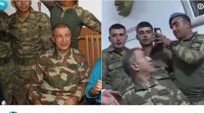 Hulusi Akar'ı rahatsız eden askerin 15 Goygoyu