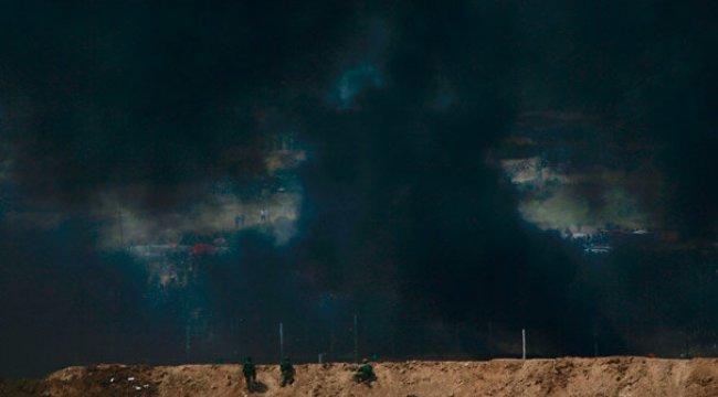 İsrail-Gazze sınırında ateş açıldı! Yaralılar var