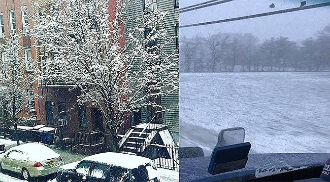 New York ve New Jersey Kar ile Uyandı