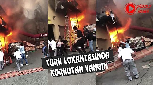 NJ Beyoğlu Restaurantta Yangın Paniği