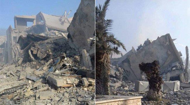 Suriye'de ki hedeflerden ilk görüntü sızdı