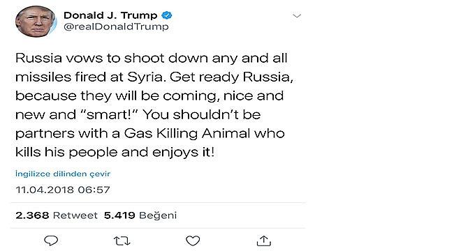 Trump Savaş Mesajını Twitter'dan Verdi