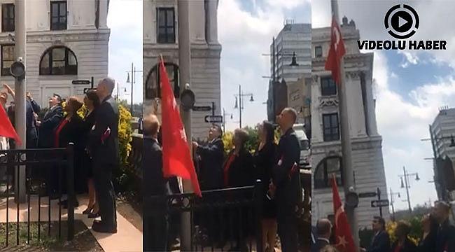 Türk Bayrağı Paterson'da Göndere Çekildi