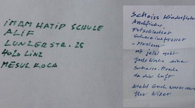 Avusturya'da camiye tehdit mektubu
