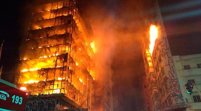 Brezilya'da şoke eden yangın