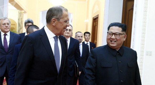 Kim ve Lavrov, Kuzey Kore'de buluştu! İlk fotoğraflar...