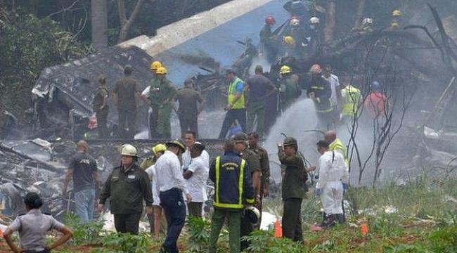 Küba'da yolcu uçağı düştü: 100'den fazla kişi öldü