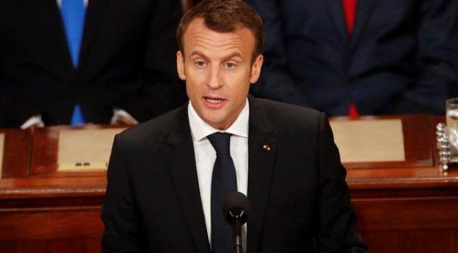 Macron Filistinlilere yapılan saldırıyı kınadı