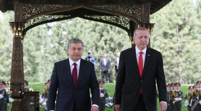 Özbekistan'dan Cumhurbaşkanı Erdoğan'ın ziyaretine anlamlı klip
