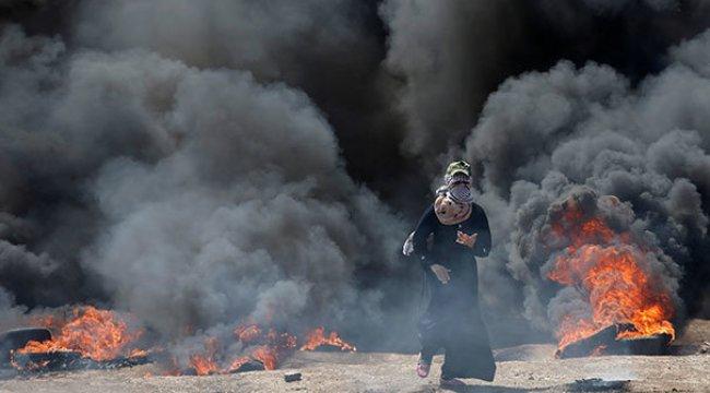 İsrail Katliam Yaptı:58 ölü 1700 yaralı
