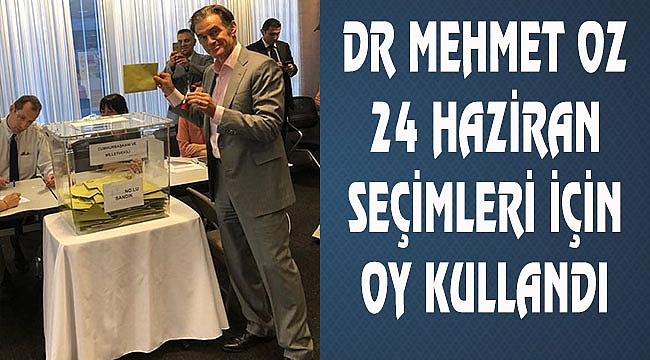 Dr. Mehmet Öz de oy kullandı