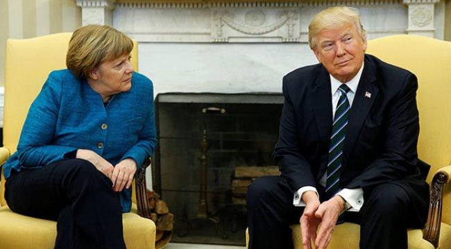 Trump bu sefer de Merkel'i hedef aldı!