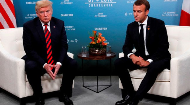 Trump'tan Macron'a: AB'den ayrılın, aramızda anlaşalım!