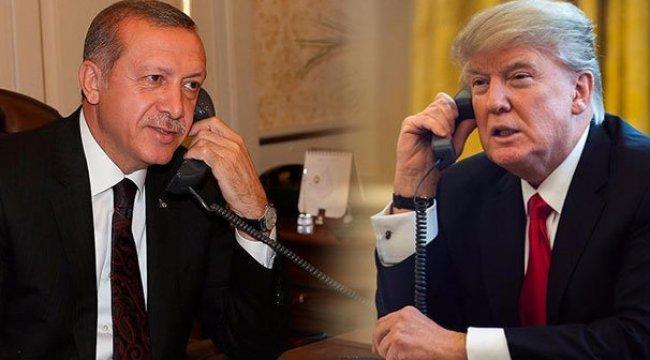 Erdoğan ve Trump telefonda görüştü!