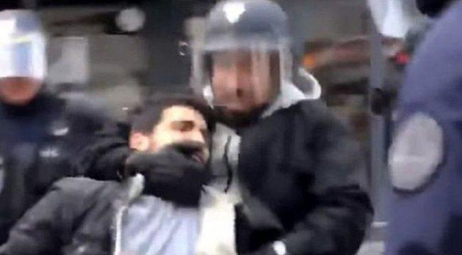 Macron'un polis kaskıyla gösterici döven koruması kovuldu