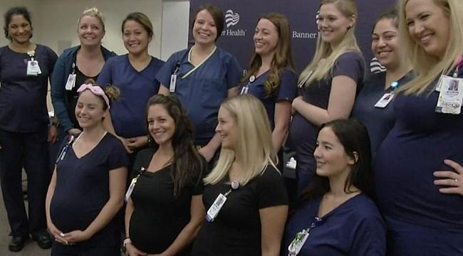 Aynı Hastanede 16 Hemşire birden Hamile kaldı