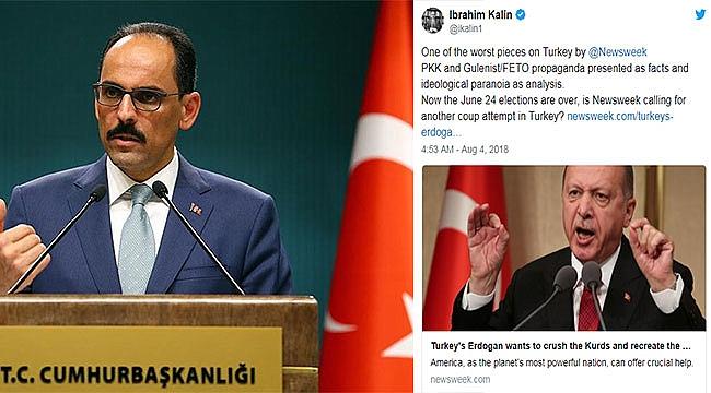 İbrahim Kalın'dan Newsweek'e sert tepki