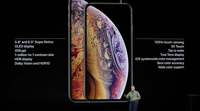Apple iPhoneXS ve XS Max'ı tanıttı