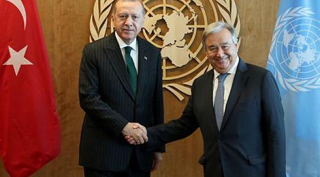 Erdoğan, BM Genel Sekreteri Guterres ile