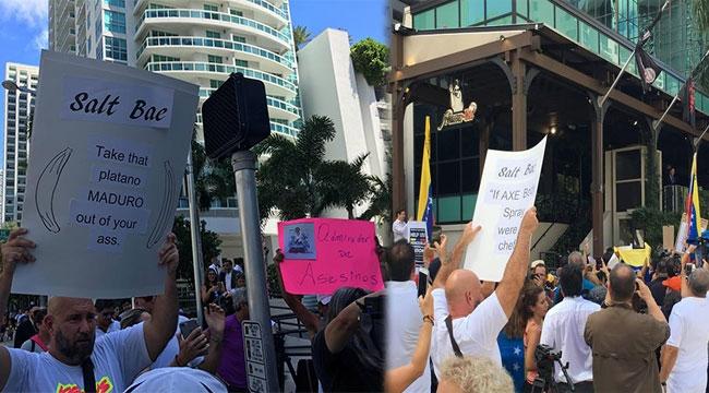 Miami'de Nusret'i Protesto Ettiler