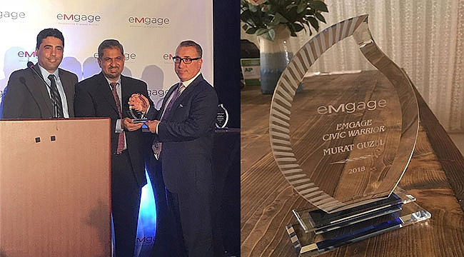Murat Güzel'e Sivil Savaşçı Ödülü