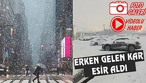 New York ve New Jersey'de Kar Fırtınası