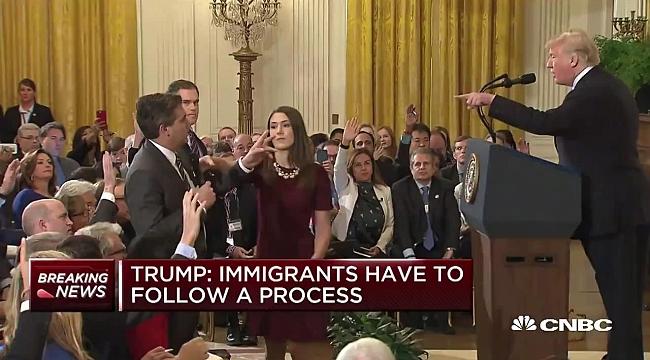 Trump CNN Muhabirini Böyle Azarladı