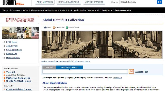 ABD Congress'teki Abdülhamit Kitapları İnternette