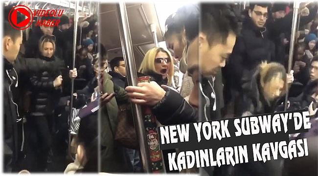 New York Metrosunda Kadınların Kavgası