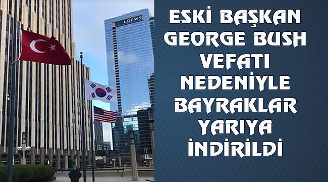 Türk Temsilciliklerde Bayraklar Yarıya İndirildi