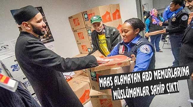 Miami'de Müslümanlardan Memurlara Yardım