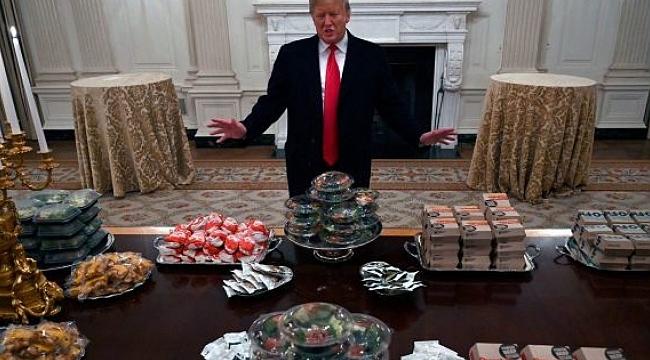 Trump Hamburger Siparişi Verdi
