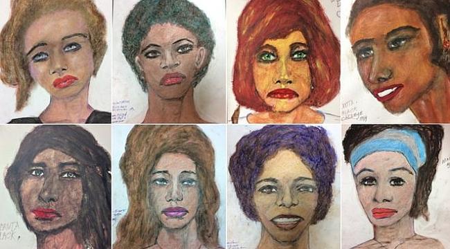 ABD'de Seri katilin öldürdüğü kadınlara ait çizimleri