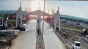 Çobanbey Gümrük Kapısı'nın karşısında patlama!