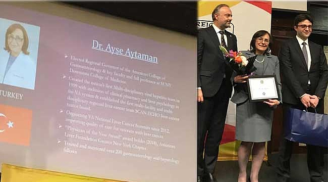 Ayşe Aytaman'a New York Konsolosundan Ödül