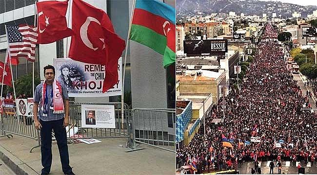 Los Angeles'ta Onbinlerce Ermeni'ye Karşı Tek Türk