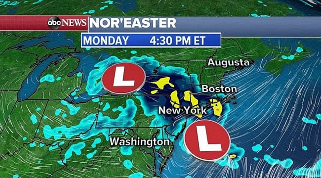 Nor'easter to bring chilly rain, snow to parts of New England