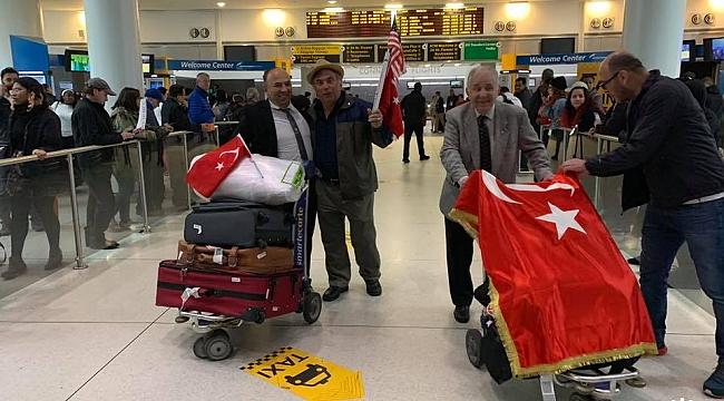 Samsun'dan New York'a Türk Bayrağı