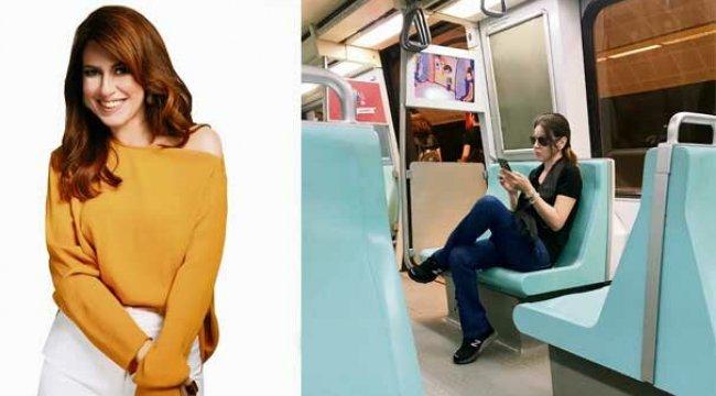 İpek Tuzcuoğlu Metroyla zaman kazanıyor