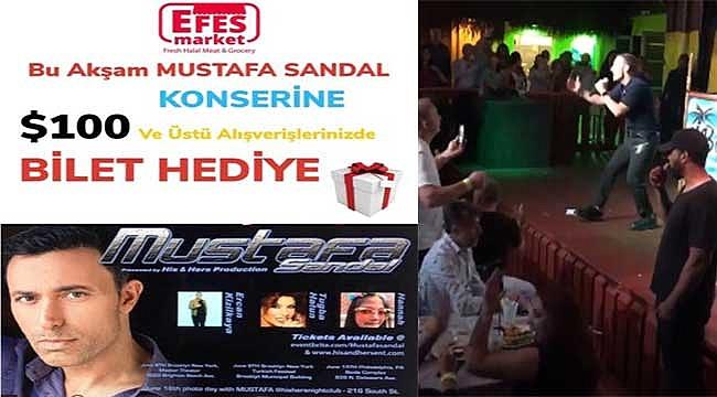 Mustafa Sandal'ın Biletleri Bedava Dağıtıldı