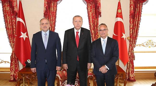 TASC Heyeti Başkan Erdoğan'ı Ziyaret Etti