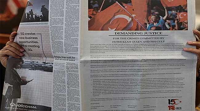 Washington Post'a 'FETÖ'yü geri verin' ilanı
