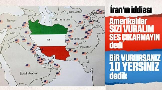 Amerika'dan İran'a: Vuralım ses çıkarmayın