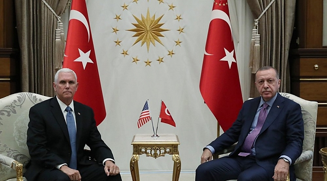 Erdoğan, Mike Pence ile Görüştü